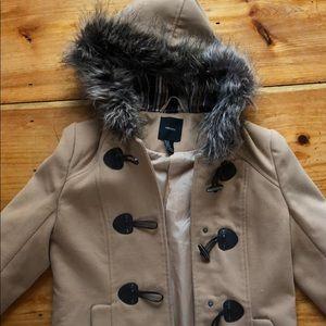Tan toggle pea coat